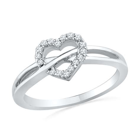 1 10 ct t w promise ring in sterling