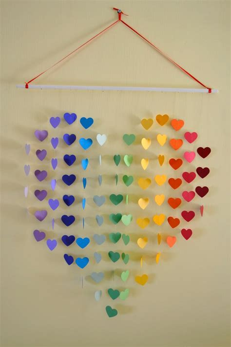 Wall Hanging Paper Craft - large rainbow mobile wall hanging baby shower