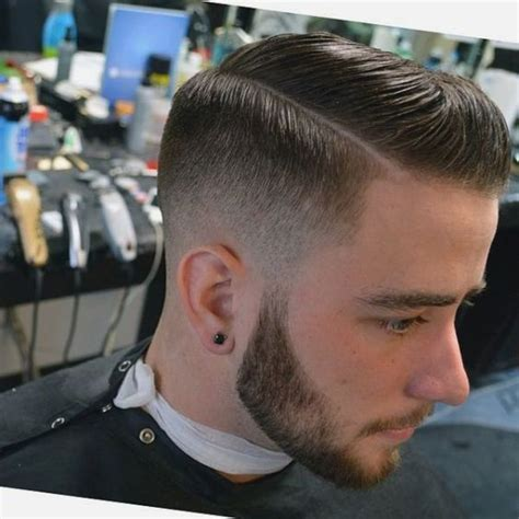 mens hard part hairstyle side part low fade to hard part or not to hard part is