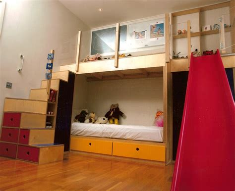 kids bunk beds with slide bunkbeds with play area slide kids rooms bunk beds