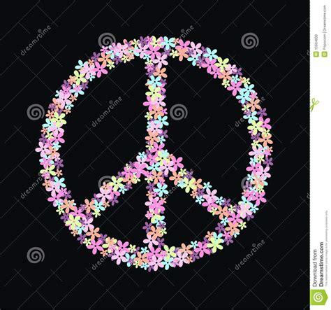 simbolo dei fiori simbolo di pace dei fiori illustrazione vettoriale