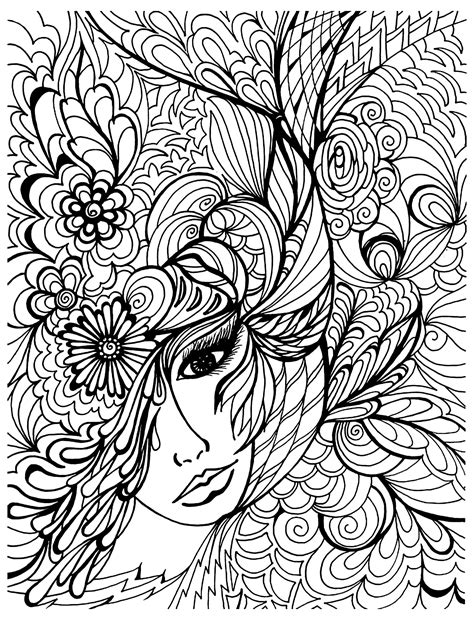coloring for stress vegetation anti stress coloring pages