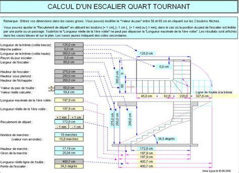 calcul d un escalier quart tournant escalier avec faible encombrement escalier