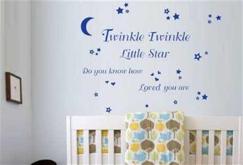 Nursery Rhyme Wall Decals Twinkle Twinkle Nursery Rhyme Wall Sticker Ebay