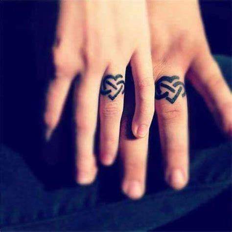 couple wedding ring tattoos 24 wedding ideas images and pictures
