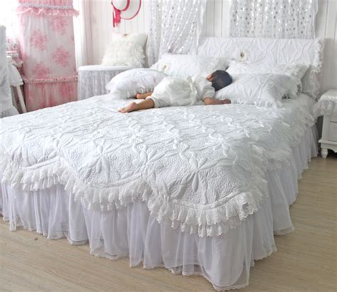 white ruffle twin comforter custommade beautiful comforters sets white lace ruffled