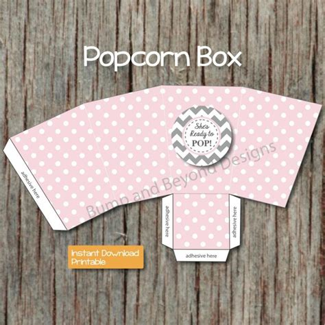 Baby Shower Popcorn Boxes by Ready To Pop Popcorn Box Baby Shower Bumpandbeyonddesigns