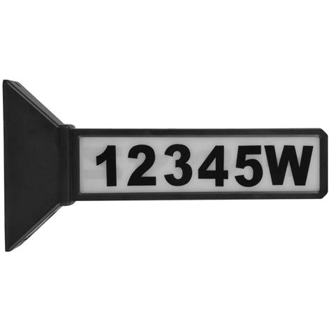 moonrays black outdoor solar powered led address sign