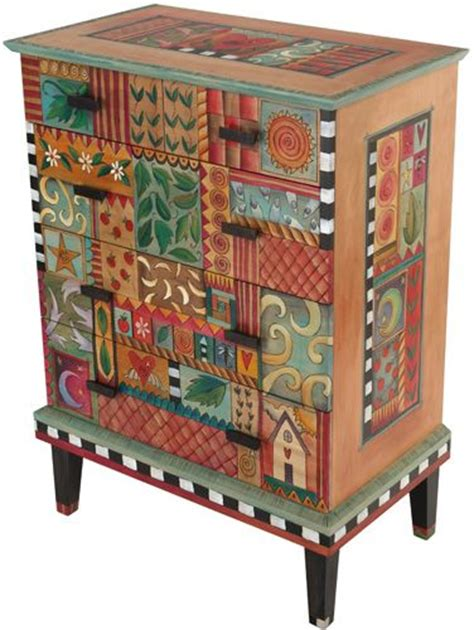 Wrapping Paper Decoupage Furniture - sticks dresser 2 from quirks of furniture i