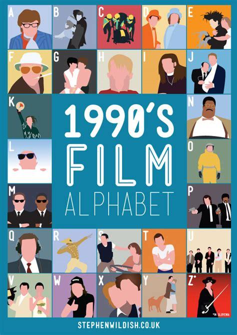 1990s design film alphabet posters that quiz your 1980s 1990s movie