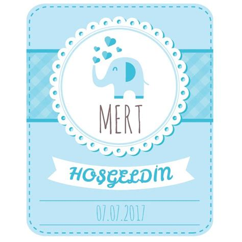 mavi fil baby shower sticker stickerimcom