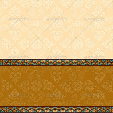 Ethnic Background With Floral Pattern Border By Prikhnenko Graphicriver Ethnic Powerpoint Templates