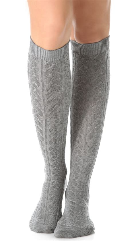 cable knit knee socks falke striggings cable knit knee high socks trendzmania