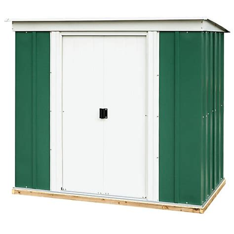 Wickes Metal Sheds by Rowlinson Metal Pent Shed With Floor 6x4 Wickes Co Uk