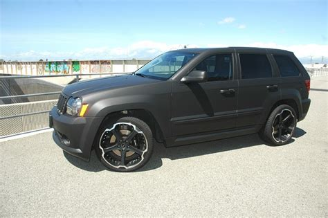 jeep srt matte black matte black car wraps flat black vinyl car wraps