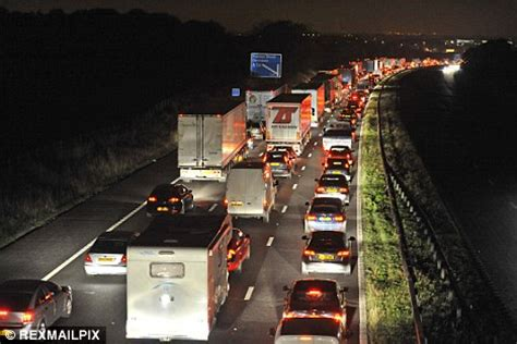 the lights go out on 121 miles of motorway: highways