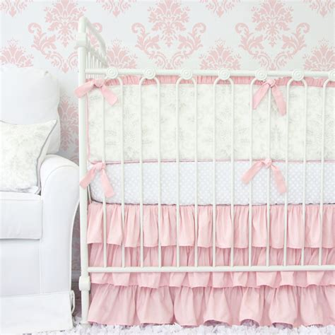 pink crib bedding set lovely damask pink crib bedding set by caden
