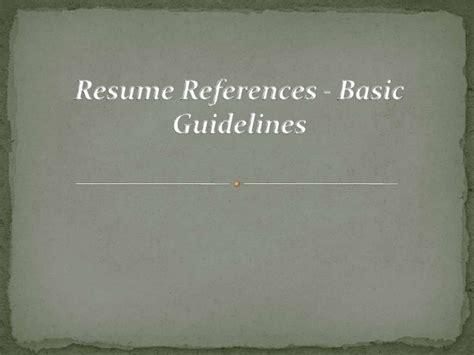 resume basic guidelines resume references basic guidelines