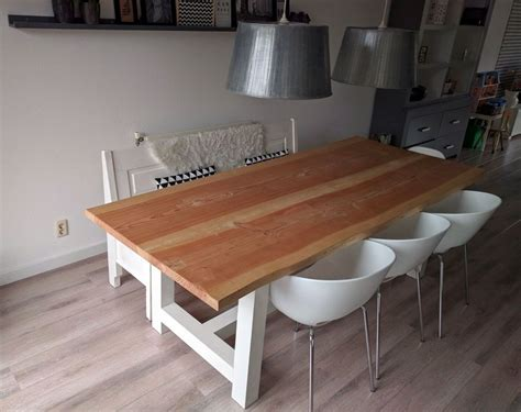 boomstam tafel wit boomstam tafel lariks hout geschaafd 250 cm