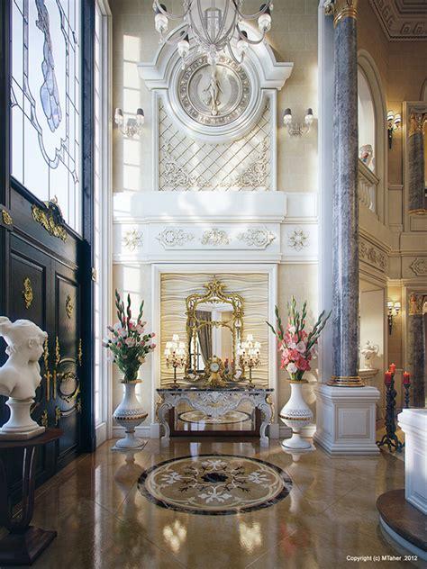 luxury villa interior qatar  behance