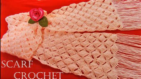 como hacer bufandas tejidas en gancho como tejer a crochet bufanda f 225 cil en punto conchas de