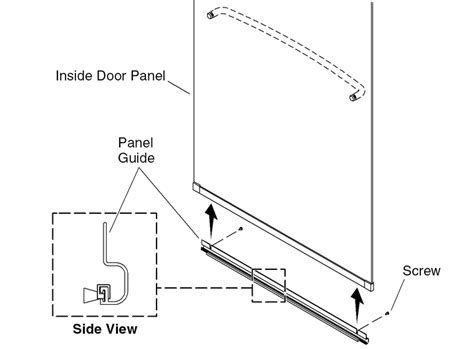 Parts Of A Shower Door Sliding Shower Door Panel Guide