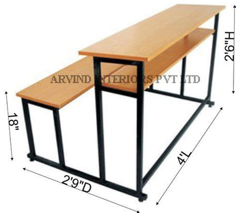 school bench dimensions school desk measurements best home design 2018