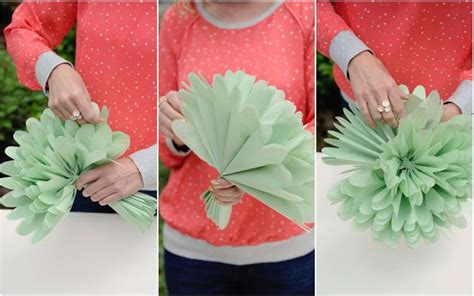 How To Make Big Flowers Out Of Tissue Paper - diy tissue paper flowers project nursery