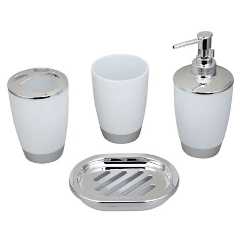 Bathroom Accessories Canada 4 Bathroom Accessory Set White Dk St009