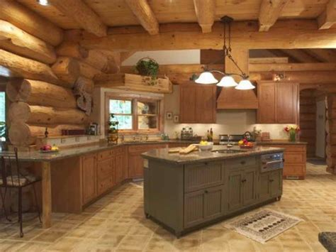 kitchen log cabin kitchens design ideas with grey