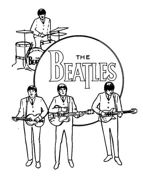 music band coloring pages john lennon from the beatles coloring pages batch coloring