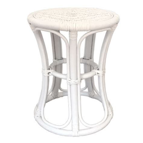 stool tom color white handmade eco friendly