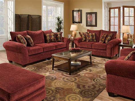 Living Room With Burgundy Sofa by Carpet Colors For Bedrooms Living Room Furniture