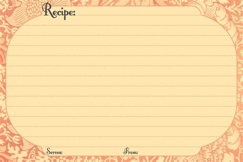 Electronic Recipe Card Template by Free Digital Recipe Card Templates Printable Recipe