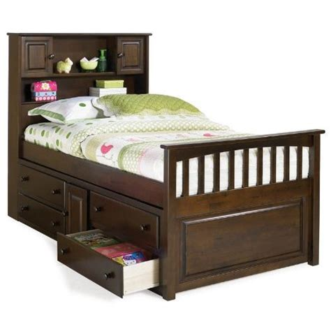 twin captain bed with storage amazon com twin size captain s bed with underbed 4
