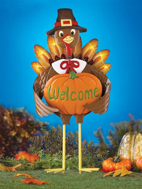 collections etc thanksgiving pilgrim turkey outdoor garden