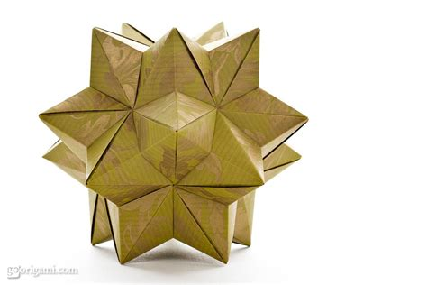 how to make 3d star and balls by tomoko fuse modular origami go origami