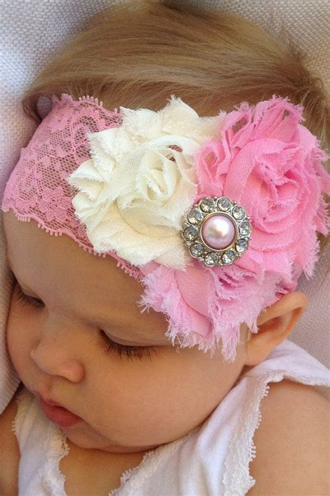 mauve cluster shabby chic headband think pink bows 25 best ideas about pink headbands on new
