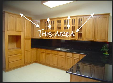 space between kitchen cabinets and ceiling fisherman s furniture covering fur the space