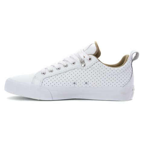 white low top sneakers lyst converse all fulton leather low top sneaker in