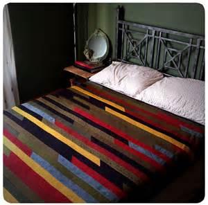 shaker style patchwork quilt striped by handmadebyelaine33