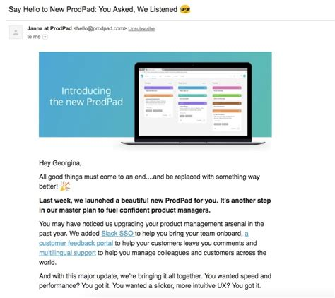 The 20 Best Product Launch Emails That Reengage Users New Website Launch Email Template