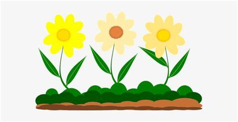 yellow flower vector image garden garden  gambar kartun