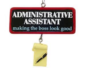 administrative assistant personalized ornament