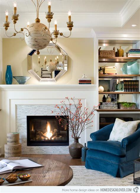15 lovely and stylish living room fireplaces decoration