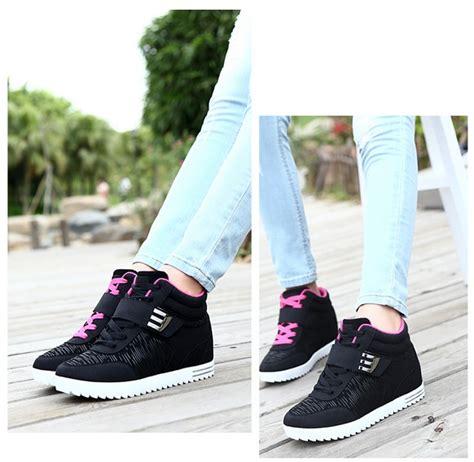 Sepatu Kets Sleting Hitam Sepatu Wanita Santai Kets Sleting Hitam sepatu kets wanita terbaru modern cantik murah