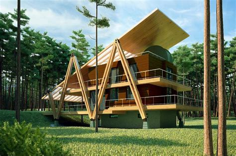 energy efficient grasshopper shaped house modern house