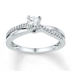 Promise Rings For Girlfriend kay diamond promise ring 1 6 ct tw round cut 10k white gold