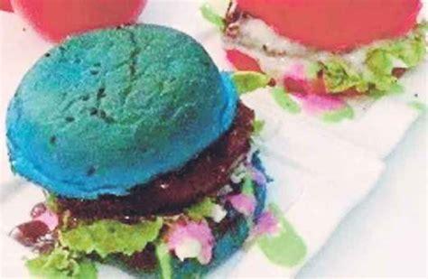 Roti Burger Warna Polos 1 keunikan burger pelangi