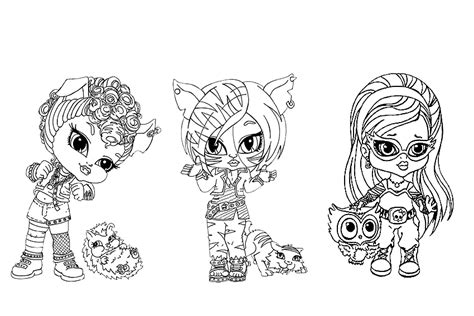 monster high coloring pages baby and pet monster high coloring pages from some school monsters